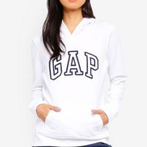 👕 GAP white sweatshirt hoodie navy blue black xs